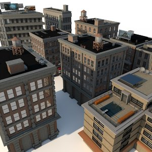 buildings city pack 3d 3ds
