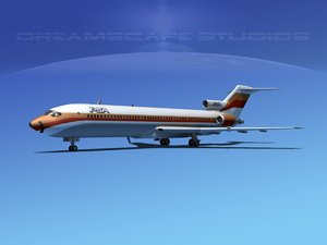 3d airline boeing 727 727-200