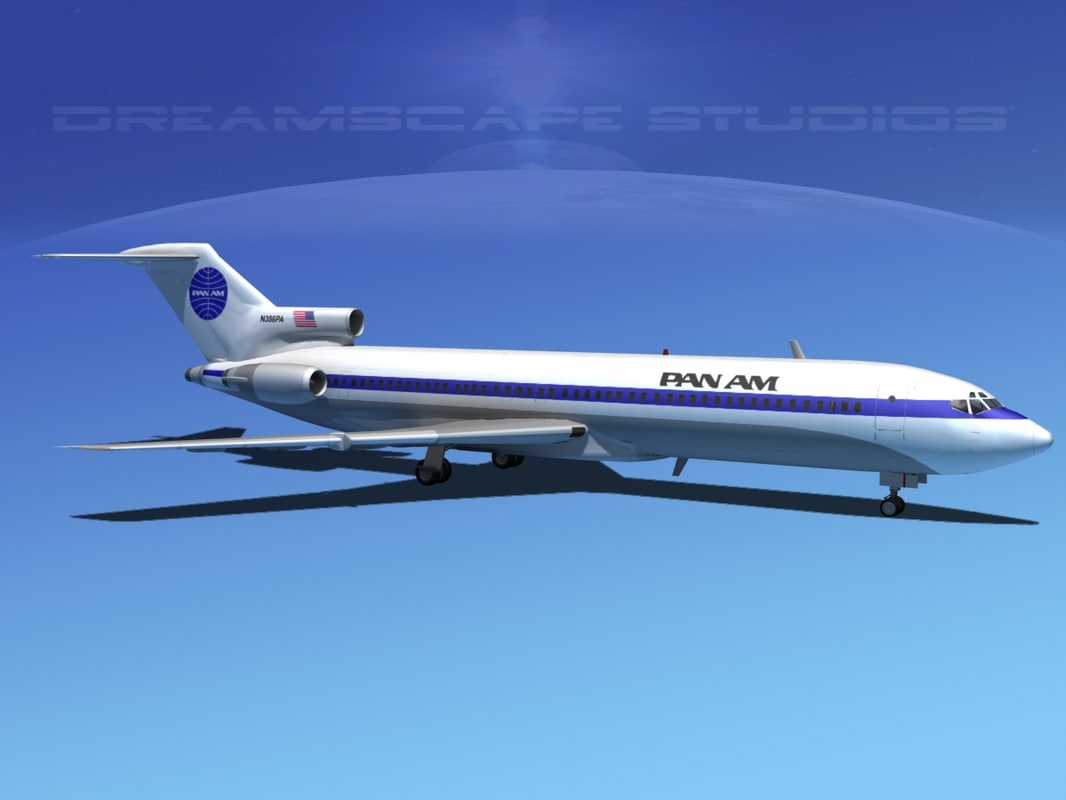 3d airline boeing 727 727-200 model