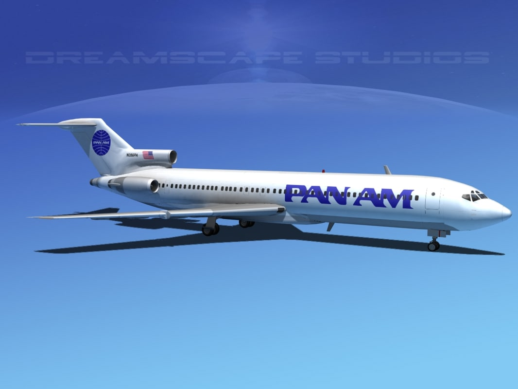 3d model airline boeing 727 727-200