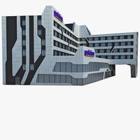 3ds max park inn hotel complex