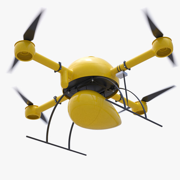 delivery drone 3d c4d