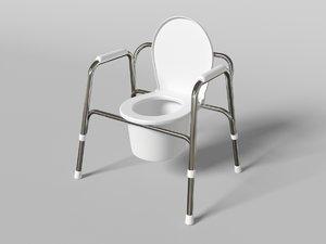 3d model wc pan
