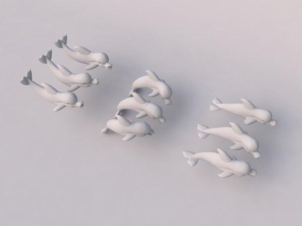 3d dolphin model