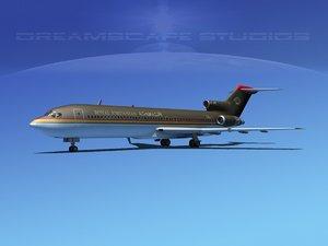 3d model airline boeing 727 727-200