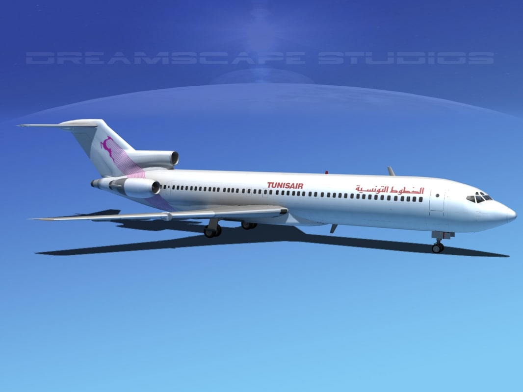 airline boeing 727 727-200 3d model