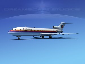 airline boeing 727 727-200 3ds