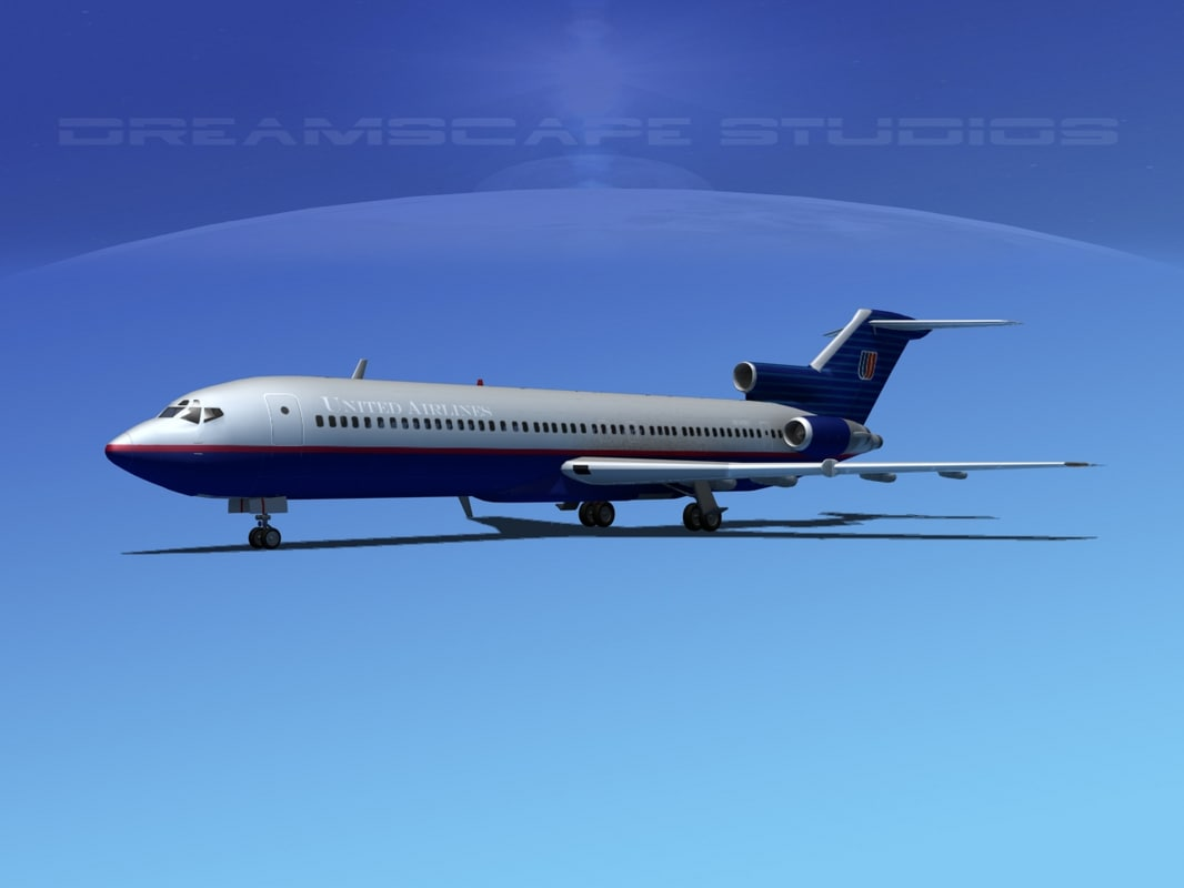 3d max airline boeing 727 727-200