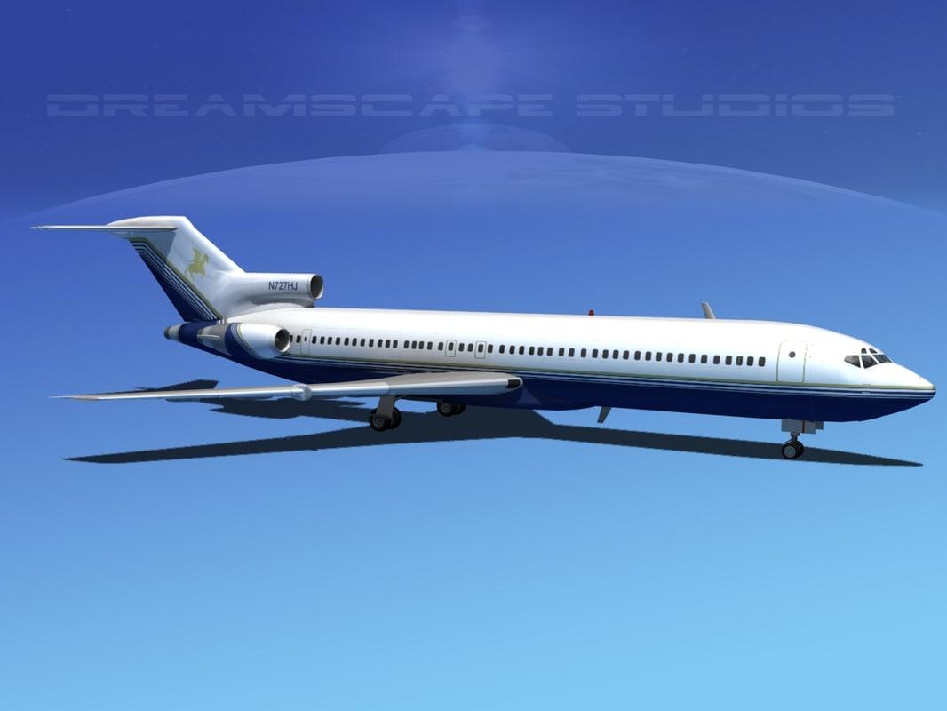 3d airline boeing 727 727-200 model