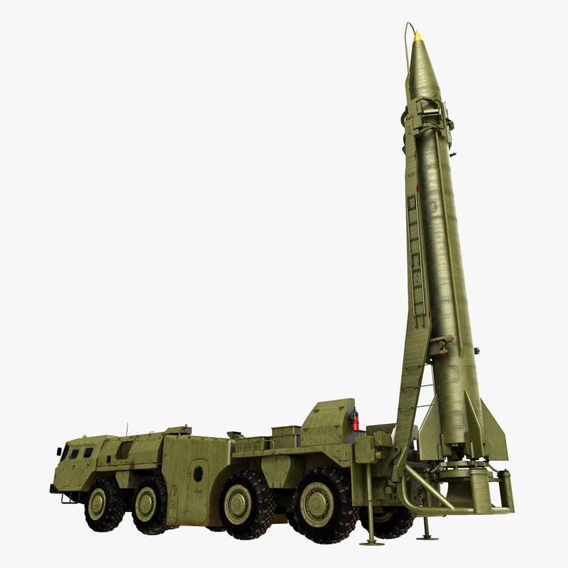3d model of scud missile launcher maz-543