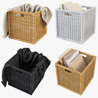 3d model rattan basket ikea branas
