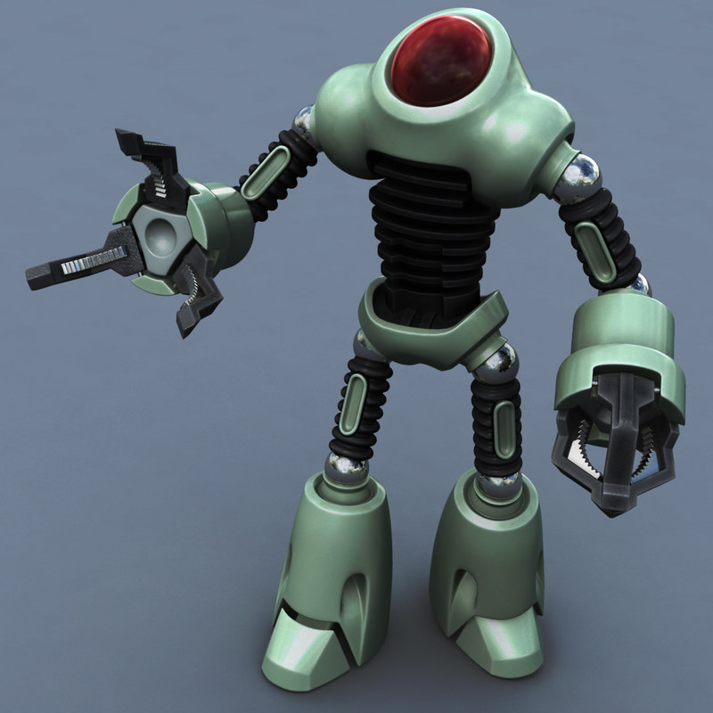 ma rigged toons robot