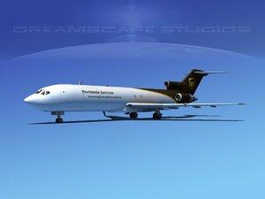 airline boeing 727 727-200 3d model