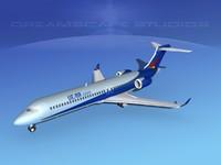 dxf comac arj21 airliner arj21-700