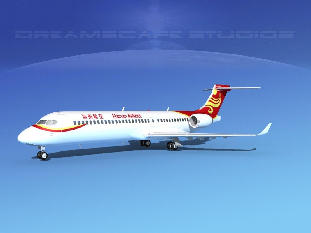 3d comac arj21 airliner arj21-700