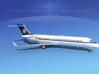 3d model comac arj21 airliner arj21-700