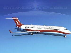 comac arj21 airliner arj21-700 3d model