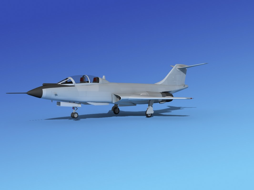 3d f-101 voodoo jet fighters model