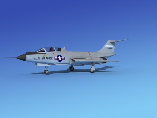 f-101 voodoo jet fighters 3d model
