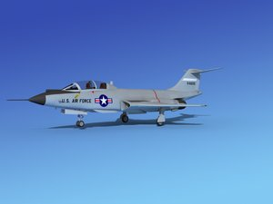 f-101 voodoo jet fighters 3d model