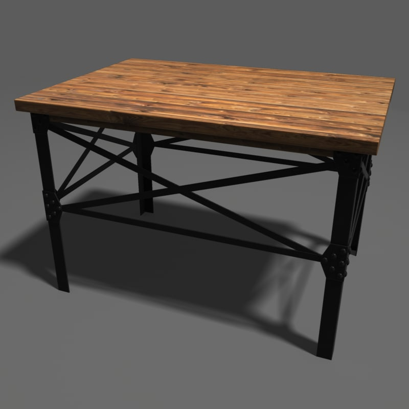3d model industrial table