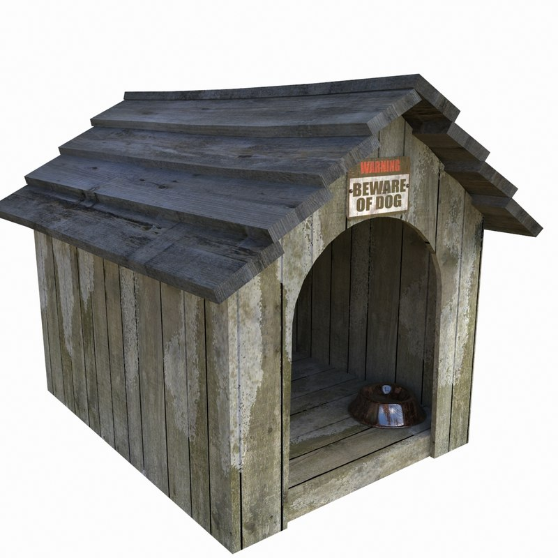 3d realistic doghouse