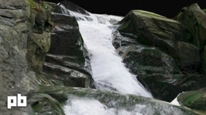 3d waterfall water stream model