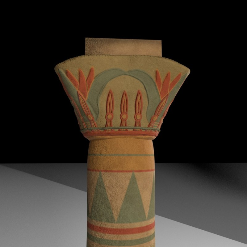 3d ancient egyptian pillar