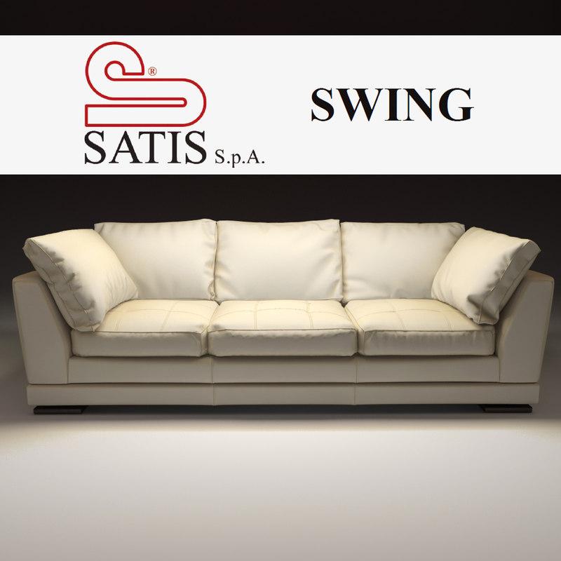 3d model satis sofa swing