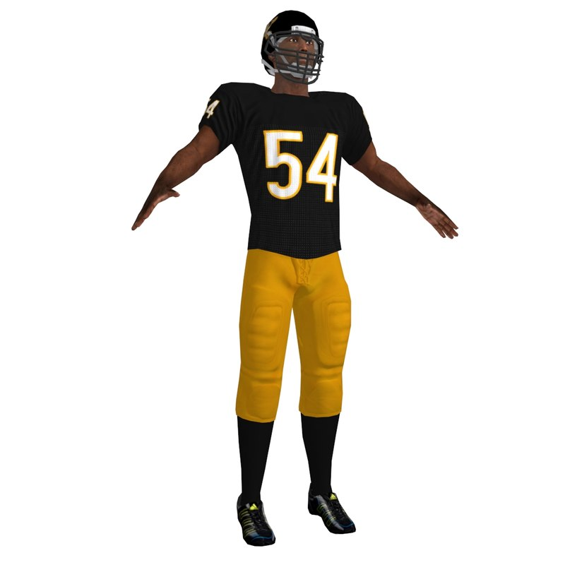 3d model of football player