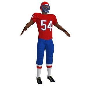 3d model football player 2
