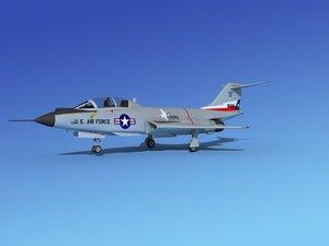 f-101 voodoo jet fighters 3d 3ds