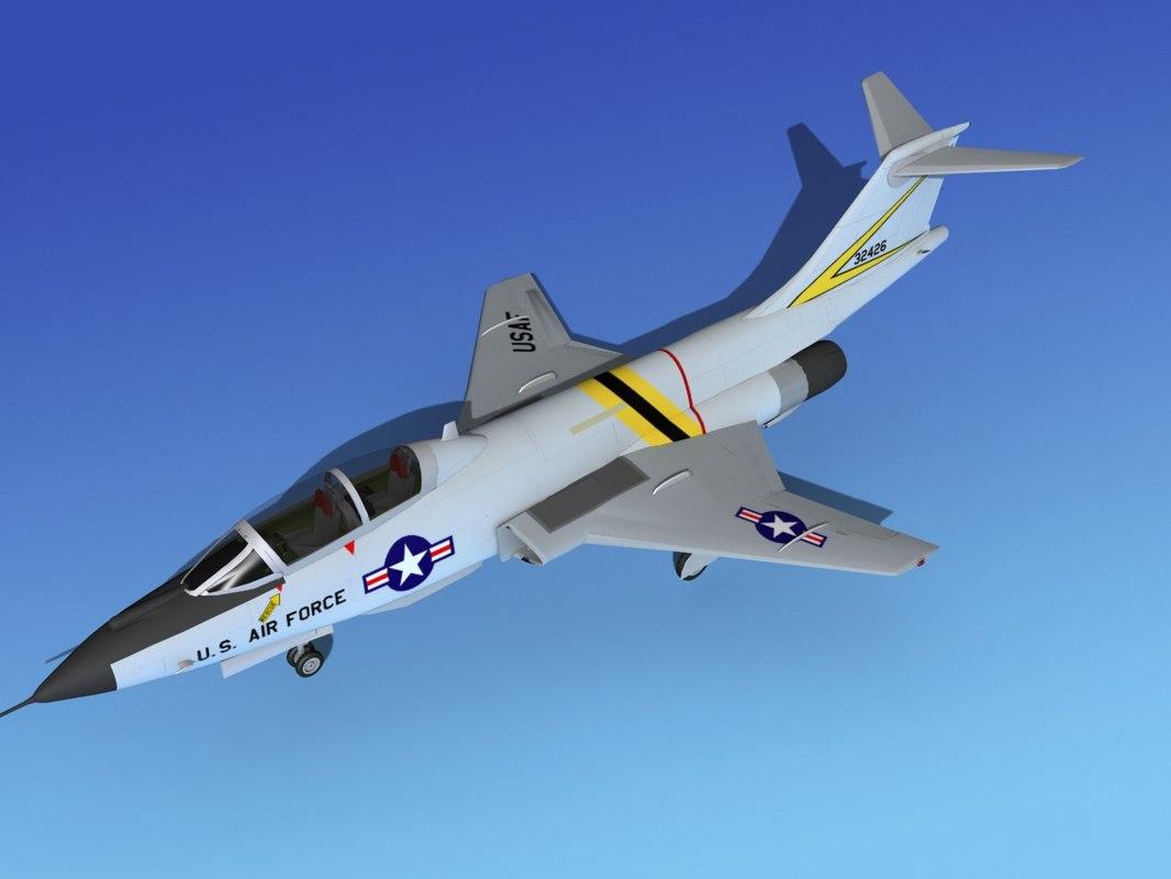 3d f-101 voodoo jet fighters model