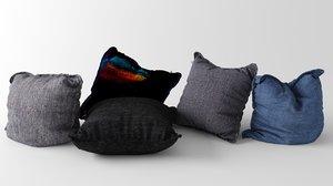3ds max set pillows