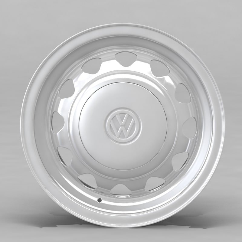 3d model volkswagen rim wheel m