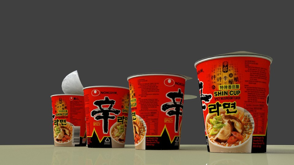 3d model nong shim cup spicy