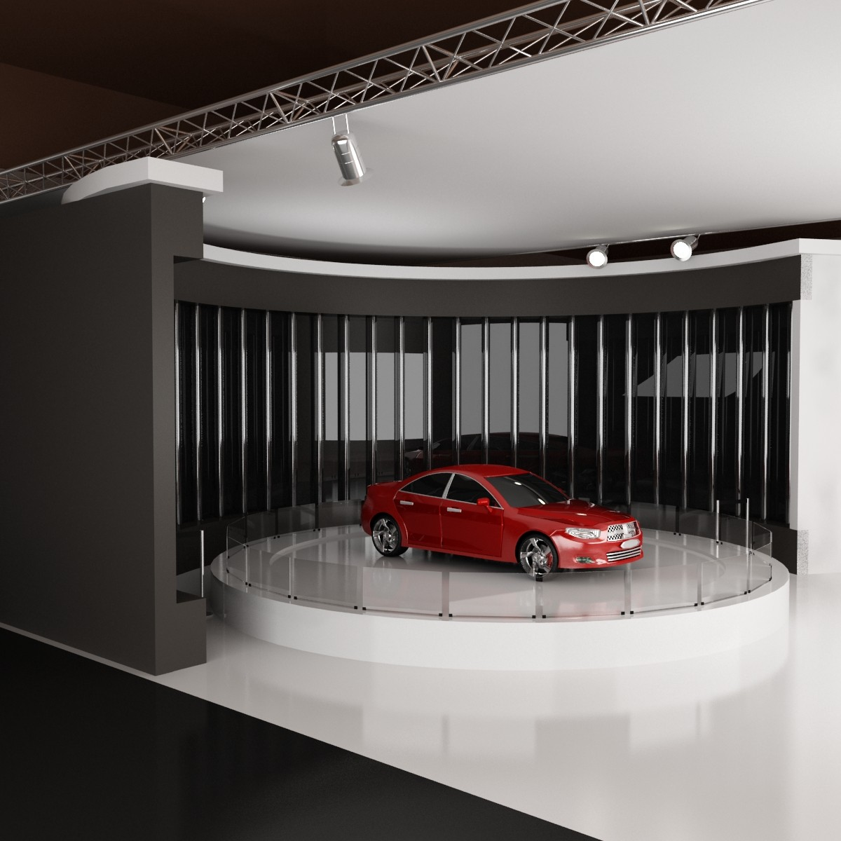 Exhibition Stand Lighting Questions : Car exhibition stand d model