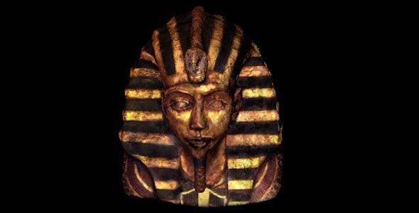3d model of statue pharaoh head