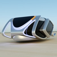 3d model futurist vehicles concept hover