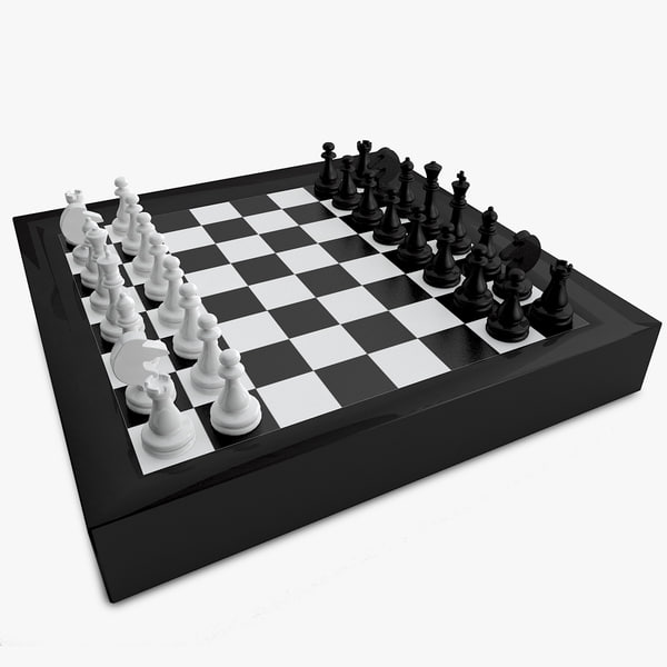 3d model chess pawns checker