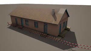 3d small warehouse