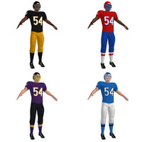 football players 3d model