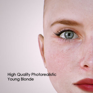 young blonde 3d model