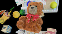 Toy Bear and Alphabet/cartoon blocks