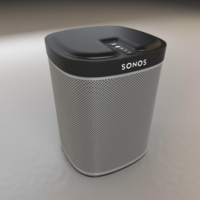 3d sonos play 1 speaker model