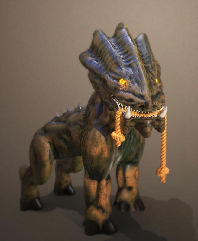 beast scary alien 3d model