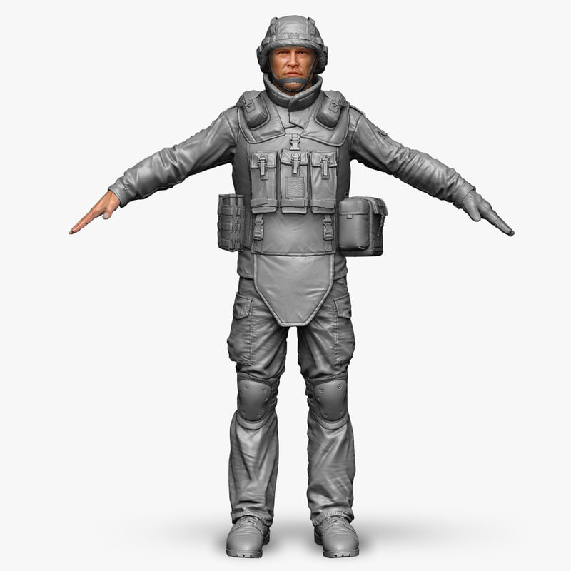3d model qualitative zbrush soldier bundeswehr