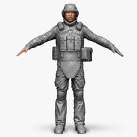 3d model qualitative zbrush soldier bundeswehr