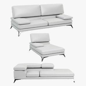bently sofa seams 3d max