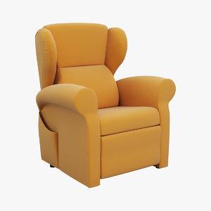 3d armchair berge chair model